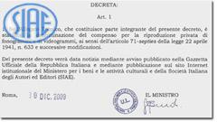 Decreto Bondi, una tassa sulle ipotesi di utilizzo