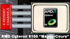 AMD Opteron 6100: le prime CPU a 12 core