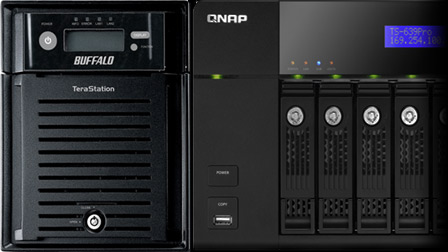Buffalo TeraStation TS-XL/R5 e QNAP TS 639 Pro