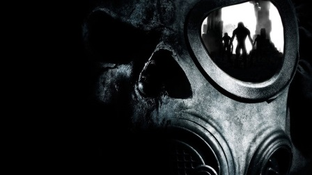 Skull with Gas Mask Facebook Cover
