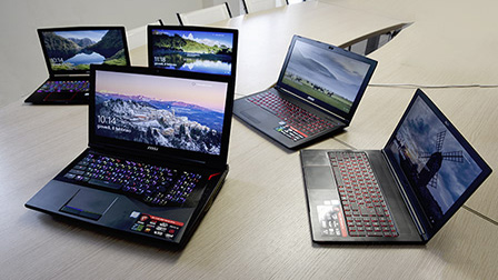 Le 5 famiglie di notebook gaming di MSI