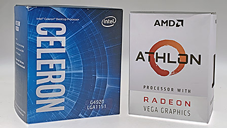 50€ per un processore: AMD Athlon 200GE vs Intel Celeron G4920