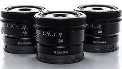 Da Sony tre nuovi obiettivi a focale fissa per Full Frame compatte