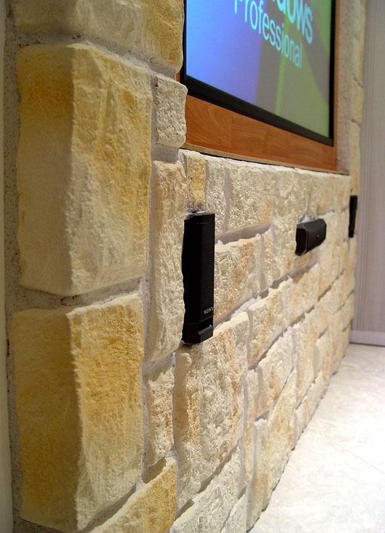 Soggiorno multimediale pagina 4 il muro in finta for Finta pietra in polistirolo