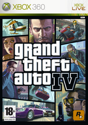 Grand Theft Auto IV - cover XBox 360