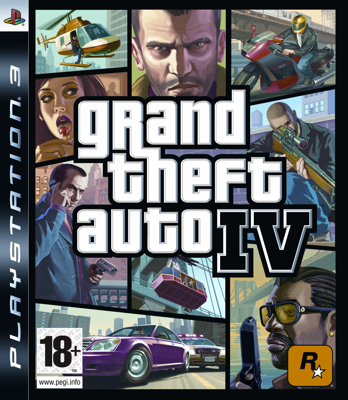 Grand Theft Auto IV - cover PlayStation 3