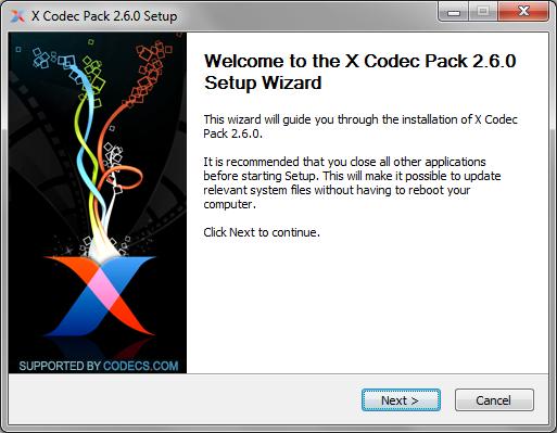 Xp codec pack download.
