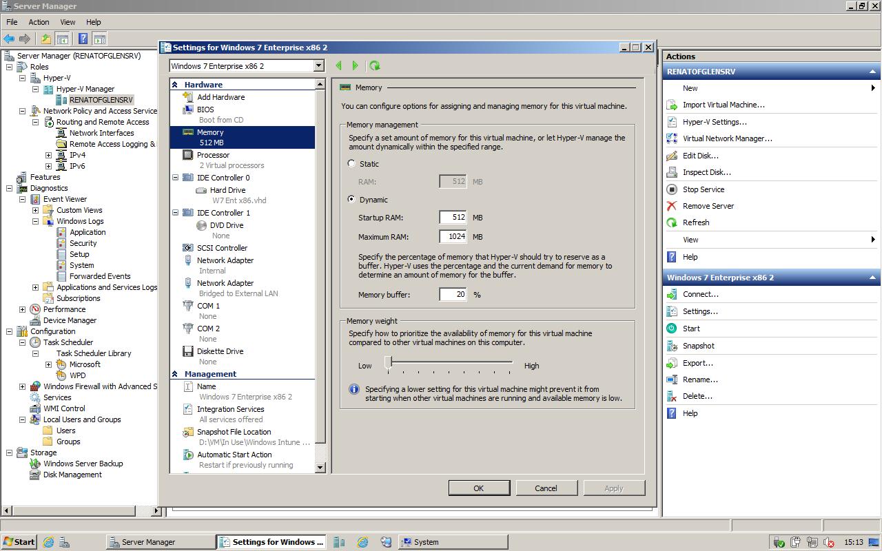 Hyper-V Server 2008 R2 con SP1 | Download | Hardware Upgrade