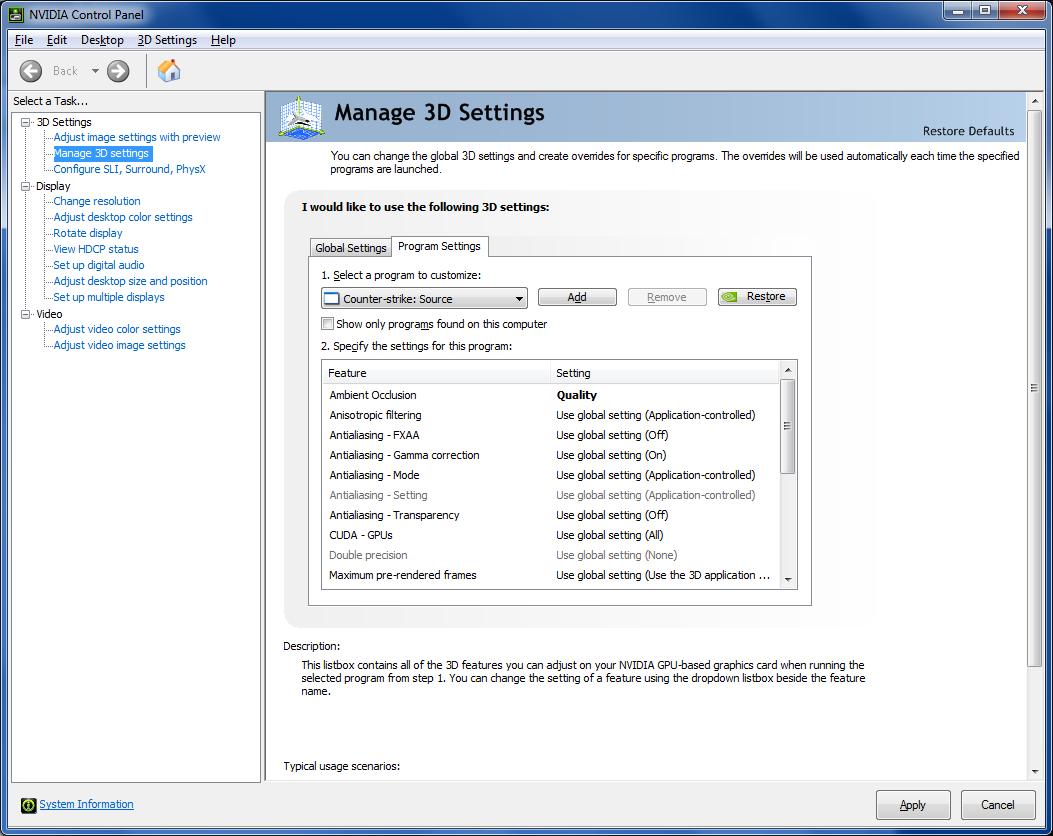 download nvidia control panel application