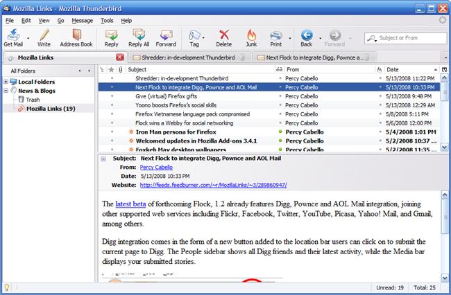 Mozilla Thunderbird 3 | Download | Hardware Upgrade