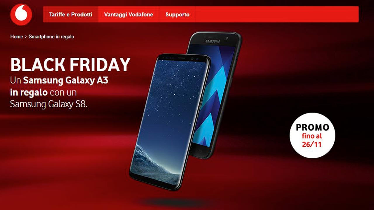 Vodafone Per Il Black Friday In Regalo Un Samsung Galaxy A3 2017