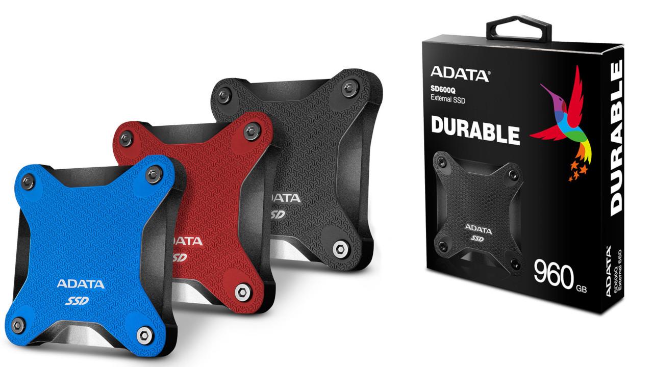 ADATA, SSD portable interessante per design e dimensioni compatte: ecco i modelli SD600Q