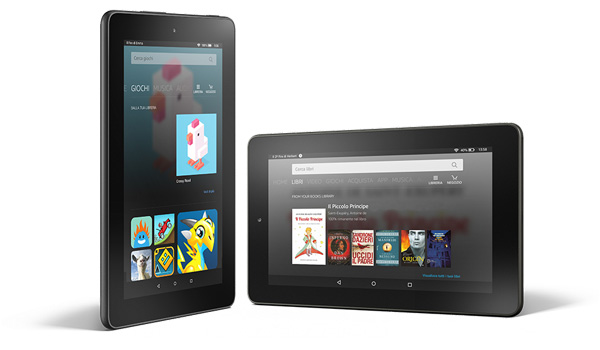 Amazon Fire, nuovo tablet con fork Android a meno di 60 euro