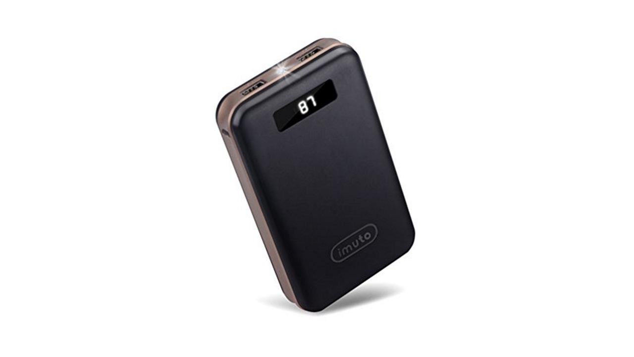 Caricabatterie portatili compatti iMuto su Amazon a 15 e 20 Euro
