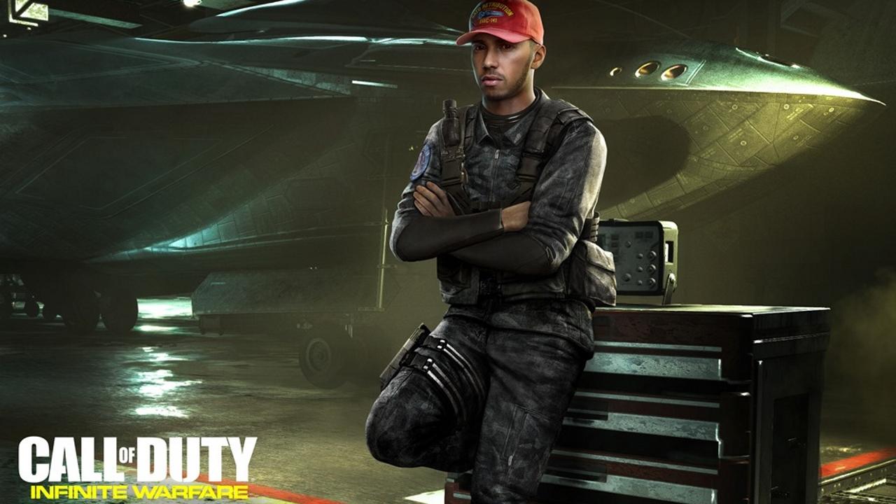 Il campione di Formula 1 Lewis Hamilton farà parte del cast di Call of Duty Infinite Warfare