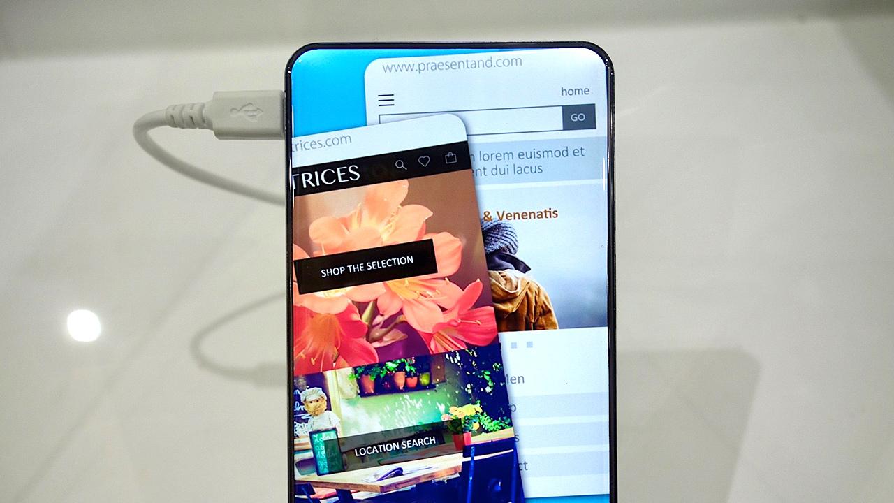Sharp Corner R, l'incredibile smartphone senza cornici su tre lati