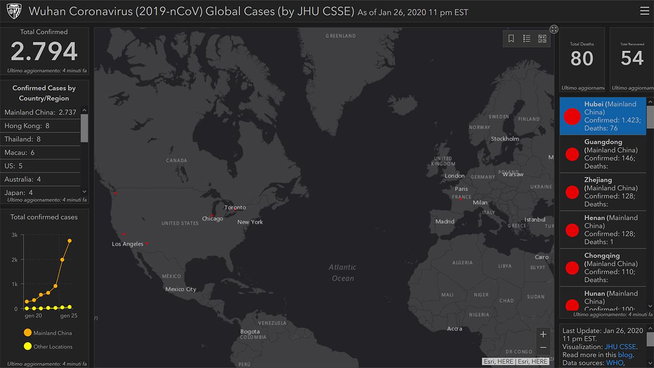 Cartina Mondo Tiger.Coronavirus Ecco La Mappa Per Monitorare La Diffusione Dell Epidemia In Tempo Reale Come Vederla Hardware Upgrade