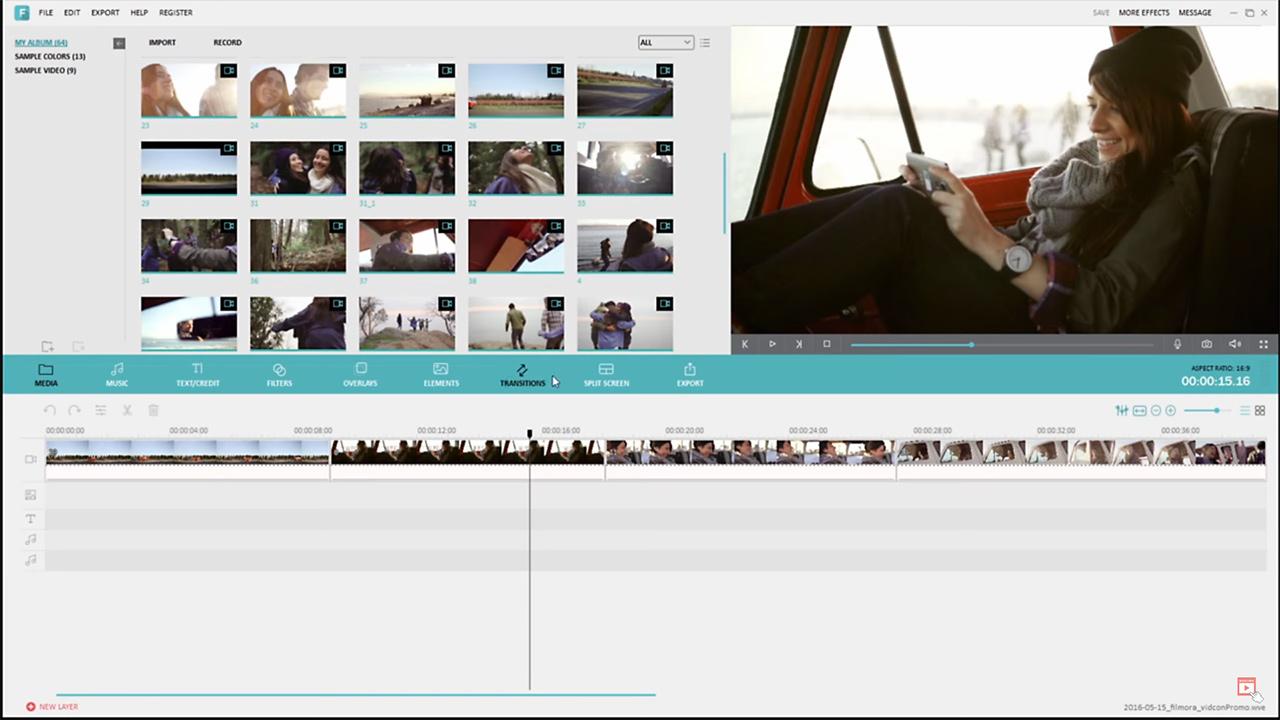 Wondershare Filmora: le 8 collezioni di effetti, filtri, transizioni