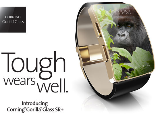 Da Corning nuovo Gorilla Glass SR+ dedicato agli indossabili