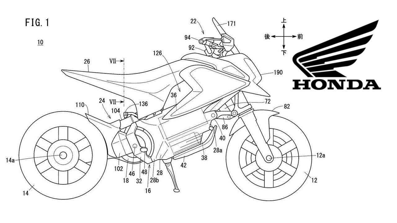 Honda brevetta una minimoto elettrica, u …