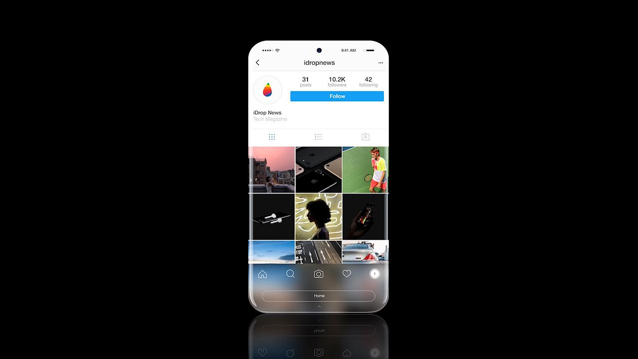 iPhone 8: ecco il concept del futuro smartphone completamente senza cornici