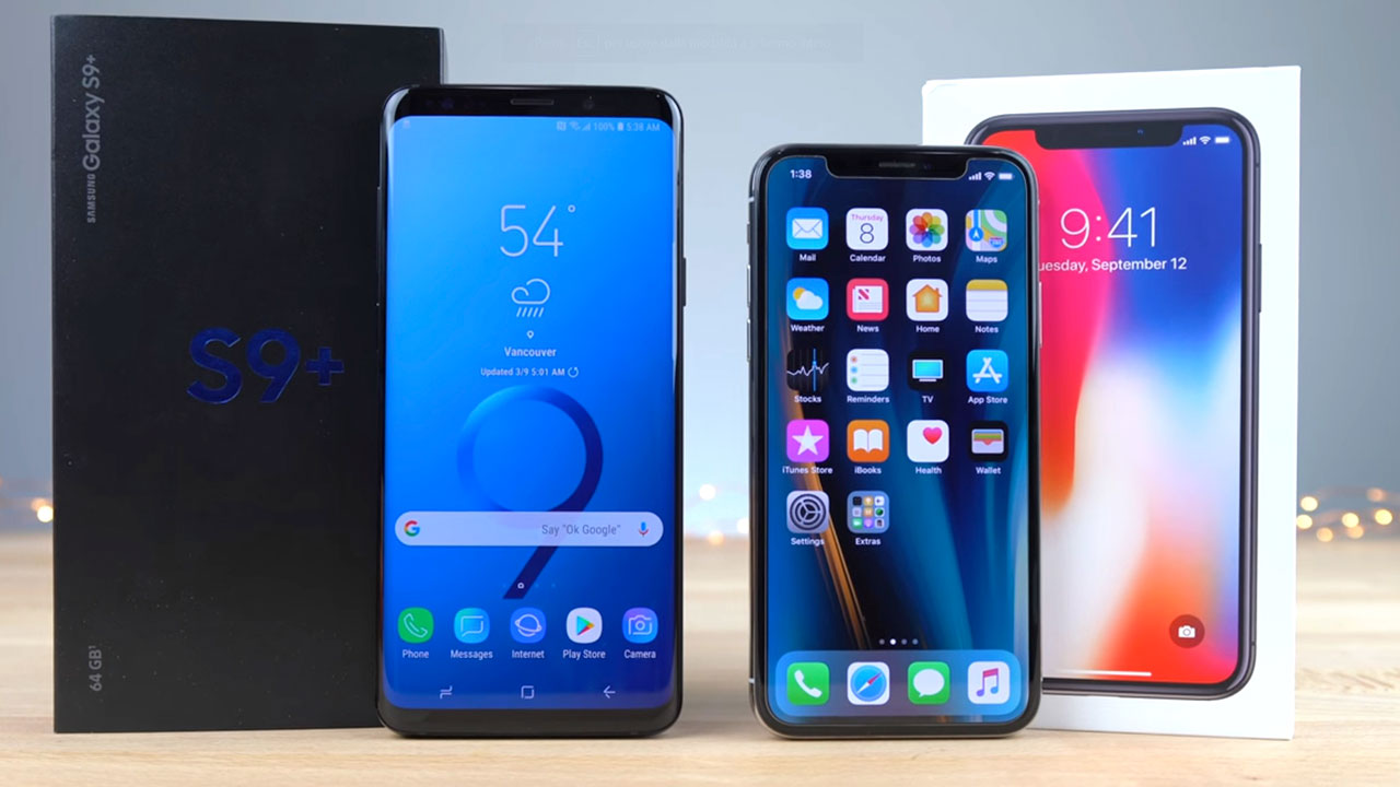 galaxy vs iphone iphone x contro samsung galaxy s9 ecco il test chi 2208