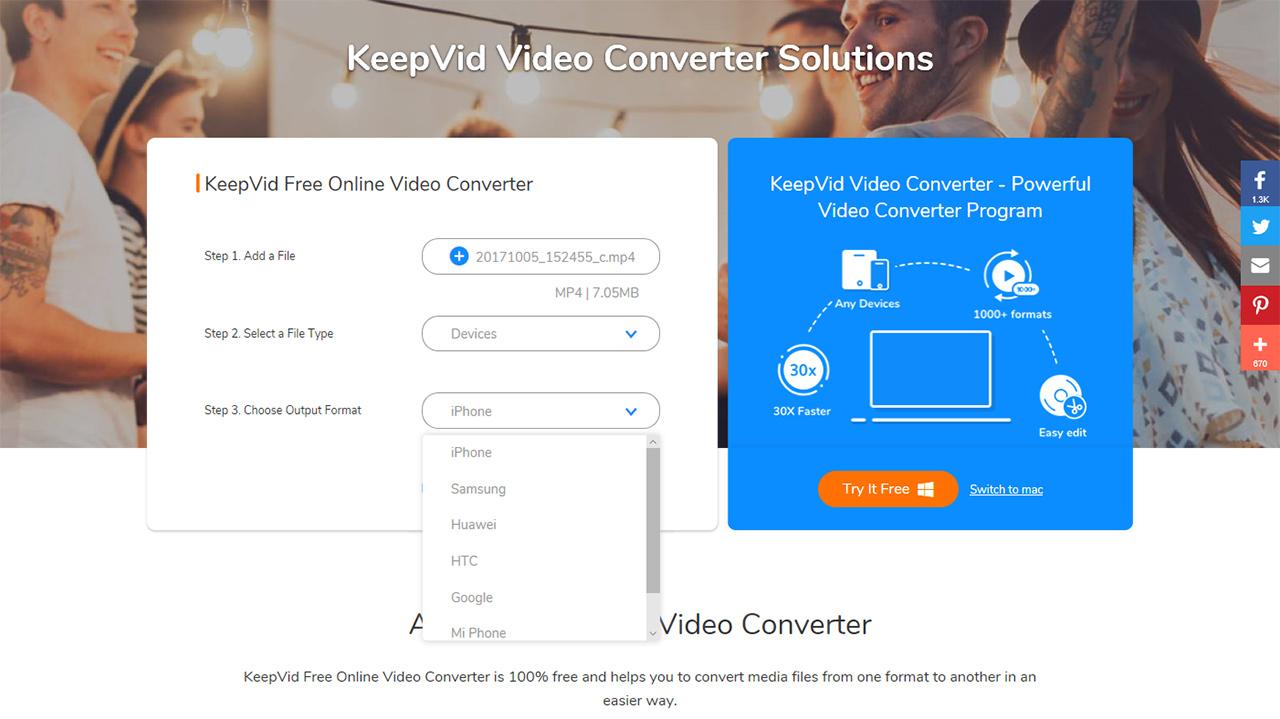 Da keepvid un tool online gratuito per la conversione di for Software di architettura gratuito online