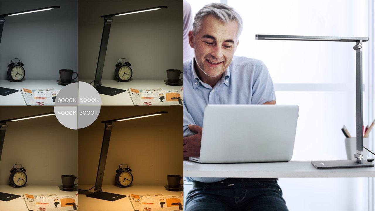 L'ergonomia sul posto di lavoro passa anche dalla luce: ecco un paio di lampade LED in offerta
