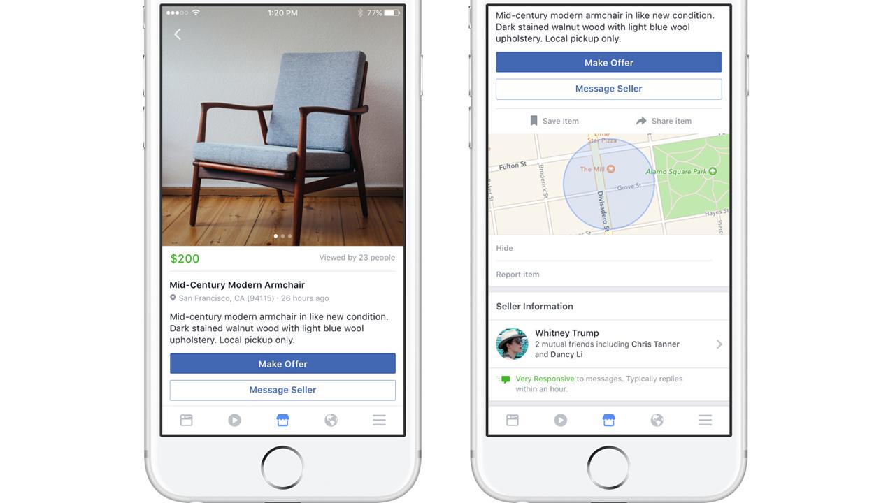 Facebook sfida eBay con Marketplace: per comprare e vendere prodotti sul social network