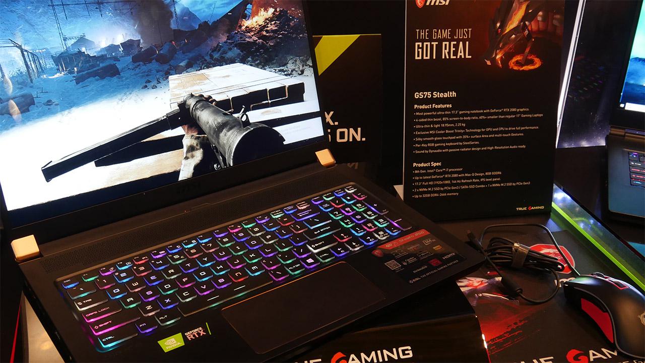 Notebook gaming con GPU GeForce RTX per MSI