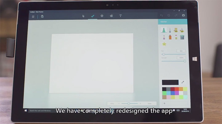 Microsoft Paint si rifà il look su Windows 10: eccolo in due video
