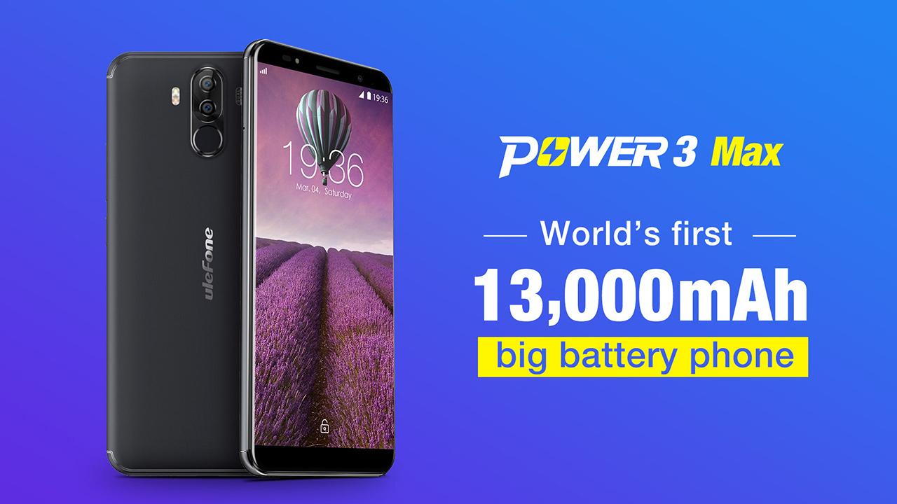 Ulefone Power 3 Max avrà una batteria da 13.000 mAh