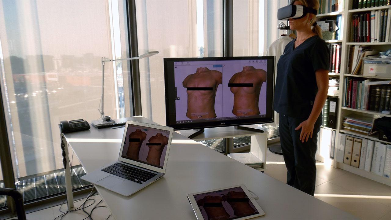 La realtà virtuale ti mostra come stai con il seno rifatto