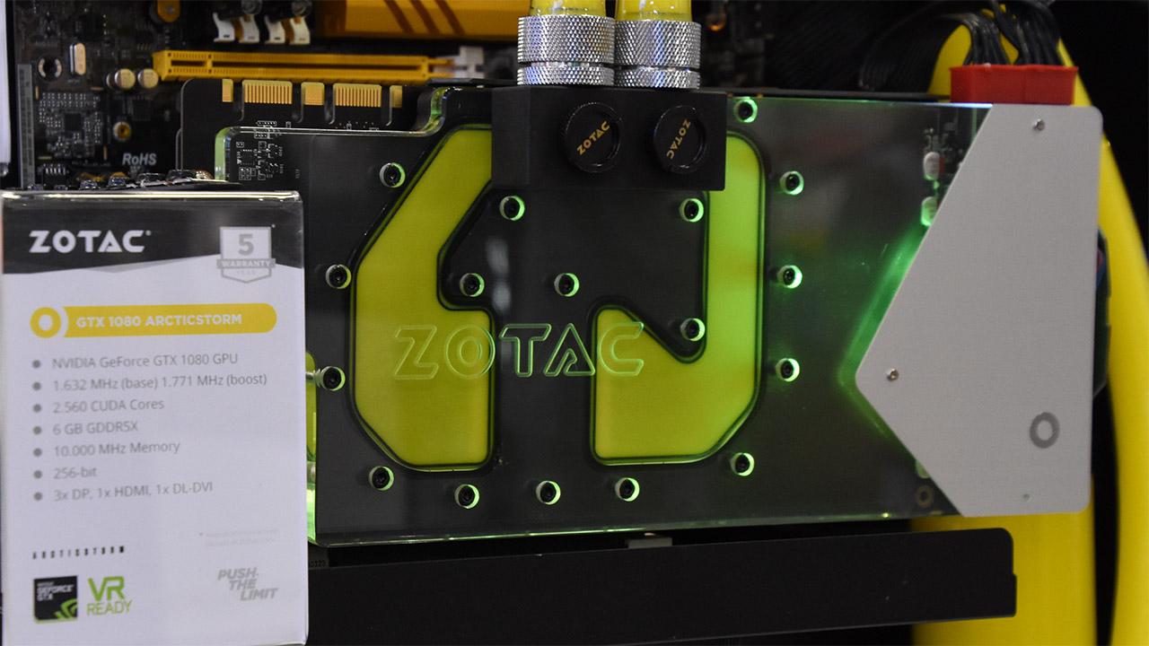 E' con raffreddamento a liquido la nuova GeForce GTX 1080 di Zotac