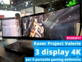 Razer Project Valerie: il portatile con 3 display 4K