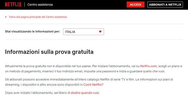 Netflix, in Italia viene rimosso il mese di prova gratuita. Per ora