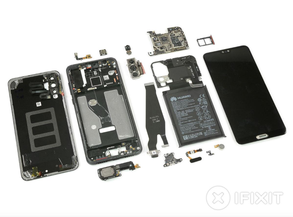 Huawei P20 Pro: iFixit lo smonta completamente e mostra la tripla