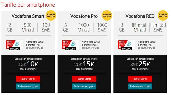 Vodafone: debutta l'offerta unica Smart, Pro e Red