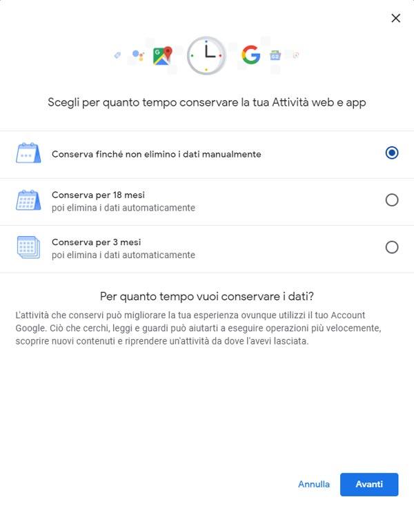 Google Permette Ora Di Cancellare Ogni Tipo Di Dato Dalla