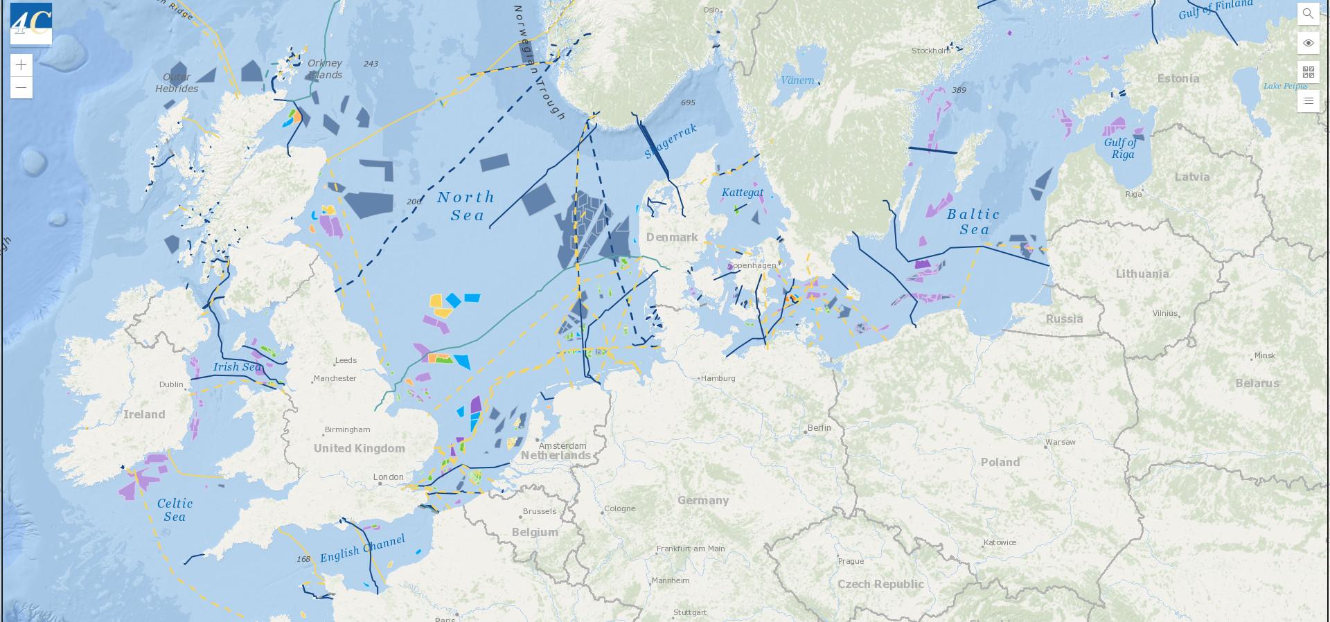 Cartina Italia Interattiva Html.4c Offshore Mappa Interattiva Di Parchi Eolici Offshore E Cavi Sottomarini Di Tutto Il Mondo Hardware Upgrade