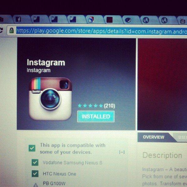 scaricare foto da instagram android version