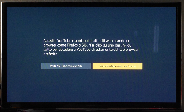 YouTube sulla Amazon Fire TV