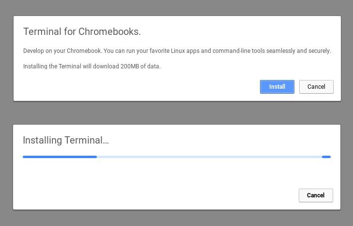 Progetto Crostini: software per Linux su Chrome OS