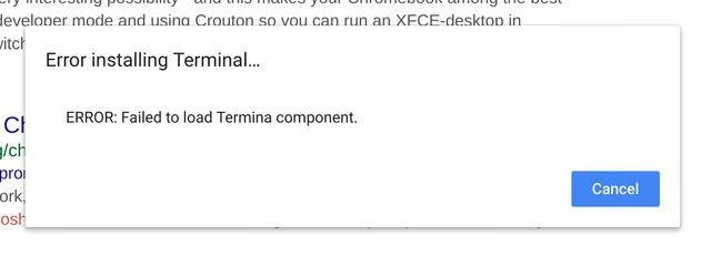 Terminale su Chrome OS