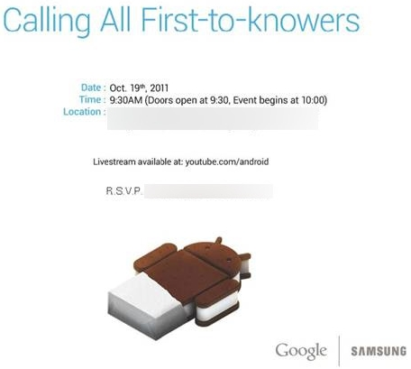 Android Ice Cream Sandwich e Nexus Prime in arrivo il 19 ...