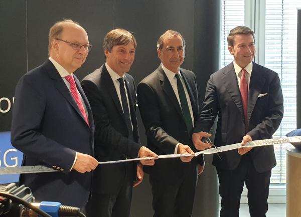 Inaugurazione Ericsson Beppe Sala