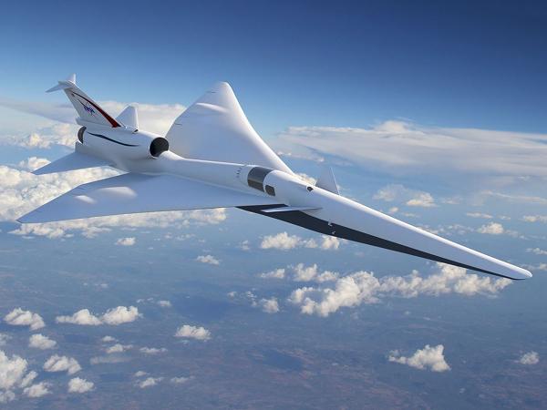 Prototipo del jet supersonico QueSST della NASA