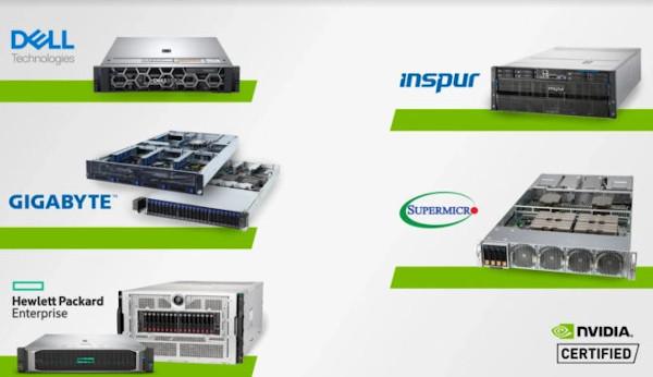 Sistemi certificati per l'IA da NVIDIA
