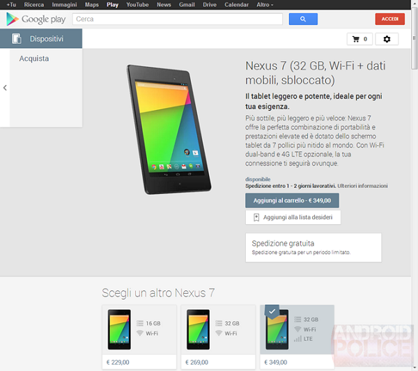 Google Play Devices Italia 2