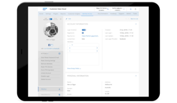 SAP Customer Identity and Access Management